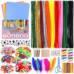 Arts And Crafts Supplies Pack Kids Set Lot Bundle Feather Pi