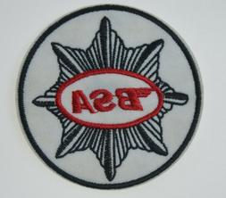 """BSA Motorcycle Sew Iron On Embroidered Applique Patch 3"""" Roc"""