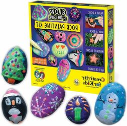 Creativity for Kids Glow In The Dark Rock Painting Kit - Pai