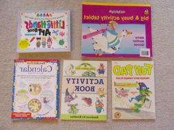 Lot of 5 Children's ACTIVITY Books - Age 2-6 - Art, Coloring