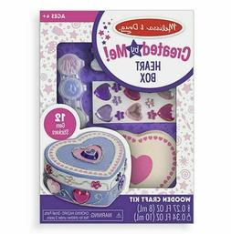 Melissa & Doug DECORATE YOUR OWN WOODEN HEART BOX #8850 NEW