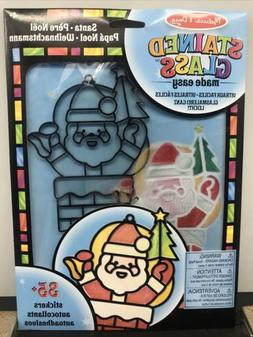 Melissa & Doug Stained Glass Made Easy Santa Claus New in Pa
